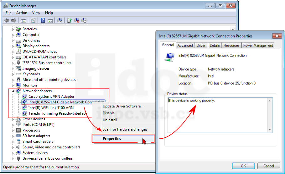 View of network devices in Device Manager (tuonet.sit-adaptery ...